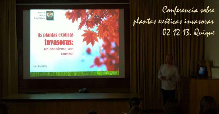 Conferencia plantas exóticas invasoras