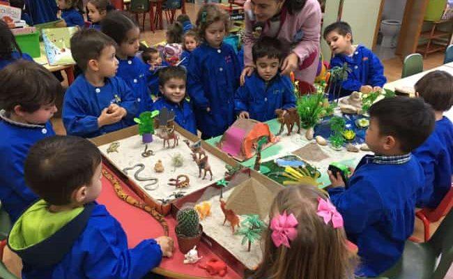 Niños de infantil en proyecto